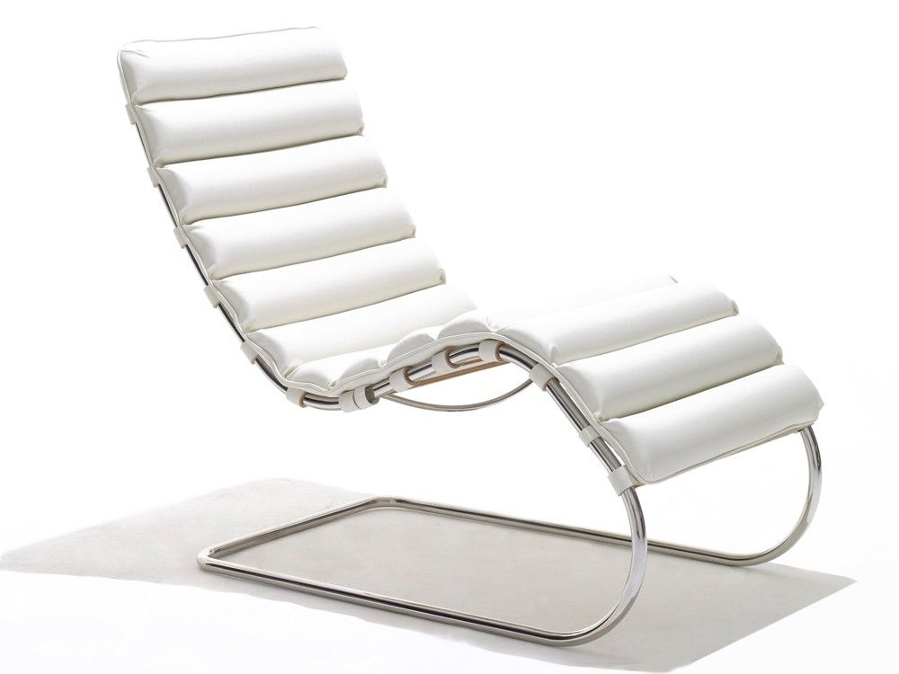 Knoll Mr Chaise Longue By Ludwig Mies Van Der Rohe Chaplins Chaise Lounge Chair Mies Van Der Rohe Steel Furniture Design