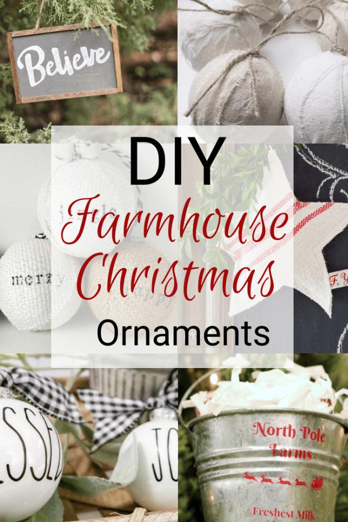 The 10 Prettiest DIY Farmhouse Christmas Ornaments - Restore Create Renovate -   19 farmhouse christmas tree decorations diy ideas