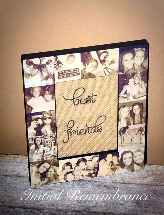 Picture Frame Collage Photo Frame Unique best friend Gift   Picture ...