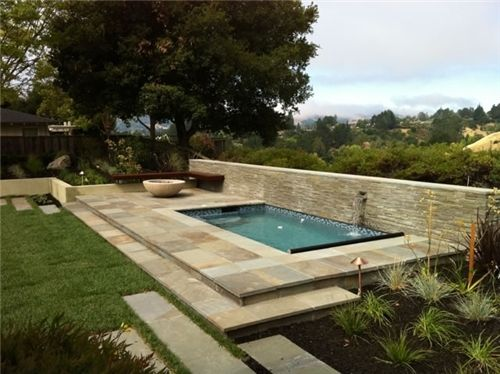 Custom Inground Spas Modern Landscaping Modern Landscape Design