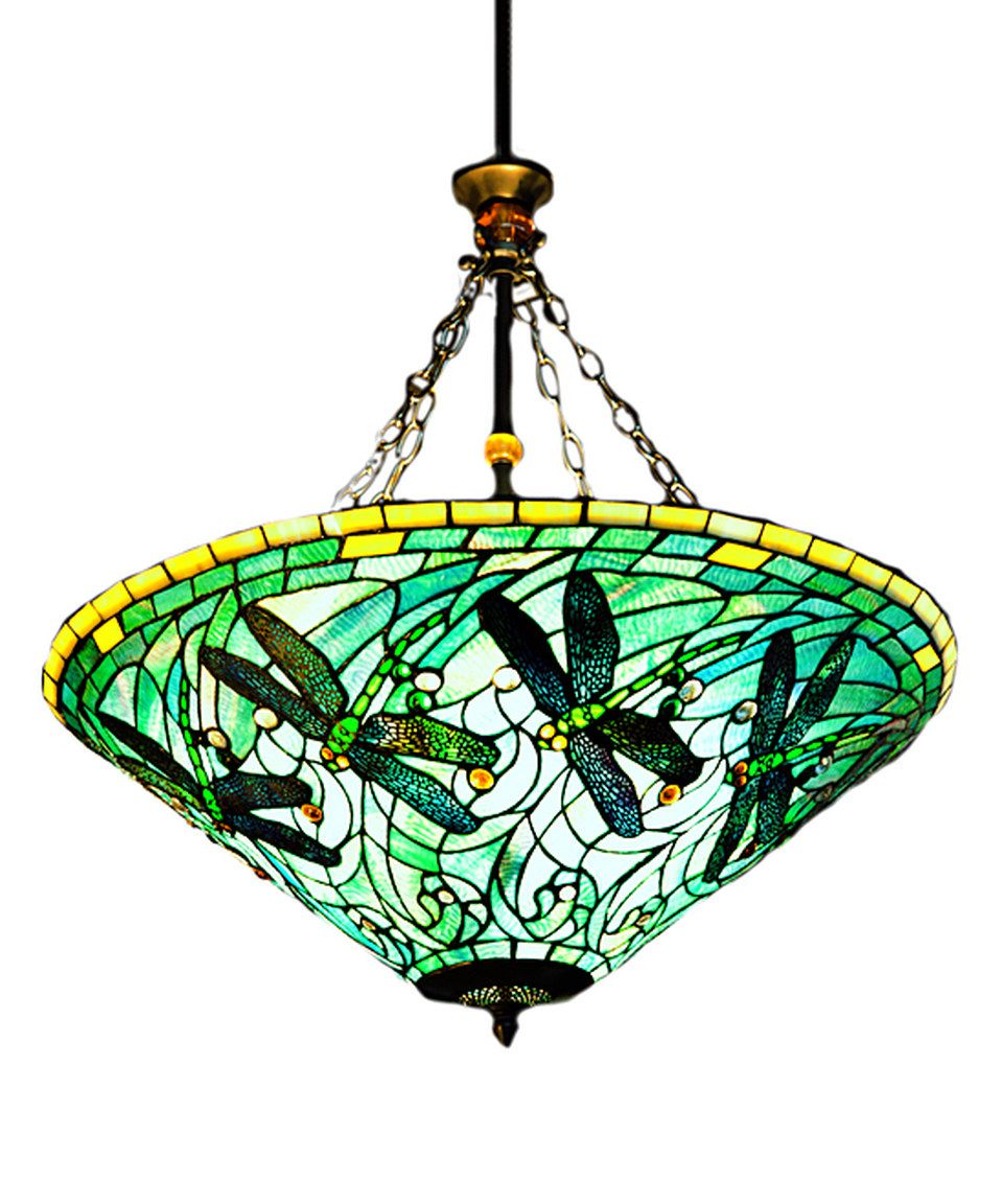Look At This Zulilyfind Dragonfly Stained Glass Inverted Hanging