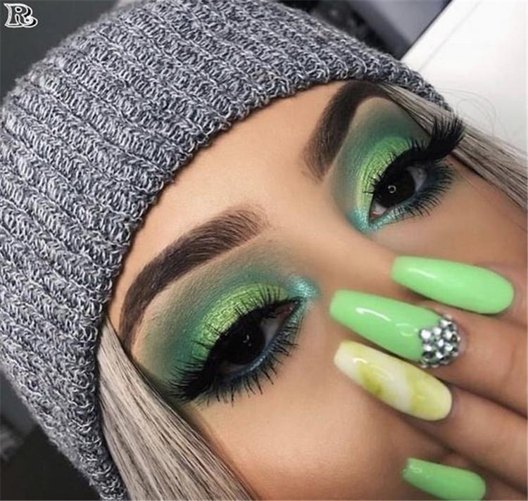 50 Stunning Weihnachten Grün Lidschatten Make-up-Ideen müssen Sie wissen – Seite 14 von 50