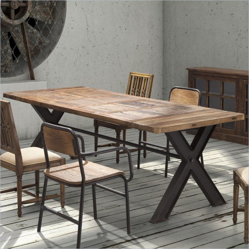98000 Matthewizzo Zuo Era Haight Ashbury Dining Table In Distressed Natural