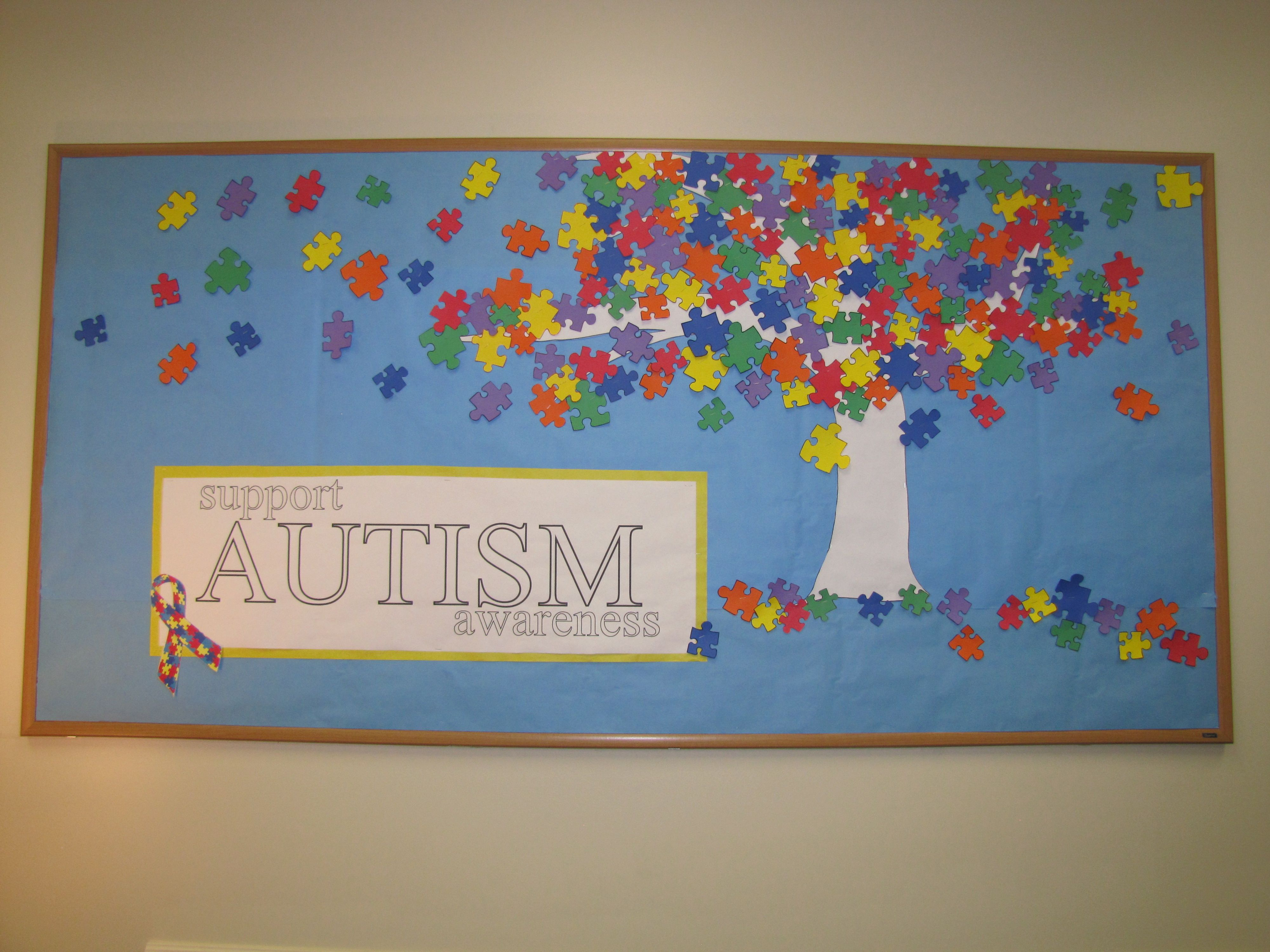 Support Autism Awareness Bulletin Board Autism Sped
