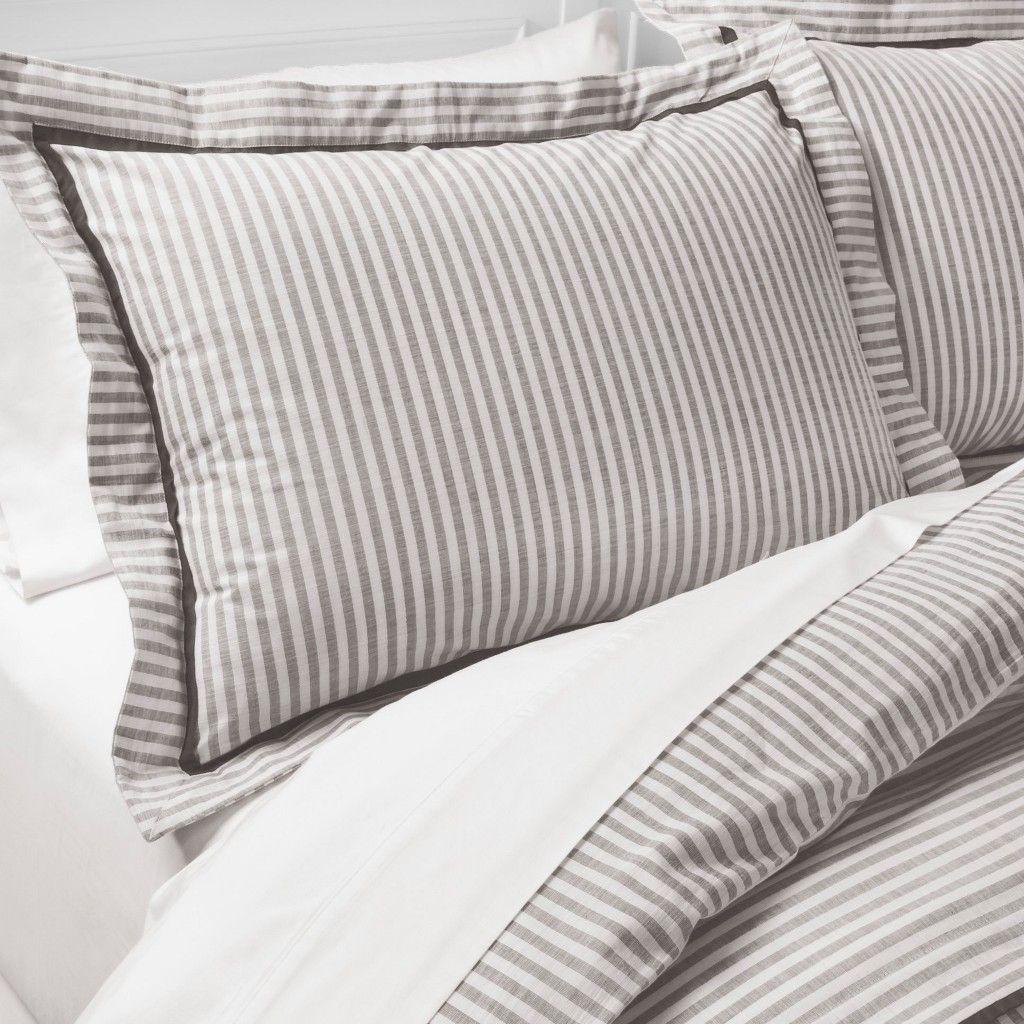 Yarn Dye Stripe Duvet Cover Set Threshold With Images Striped Duvet Duvet Cover Sets Striped Duvet Covers