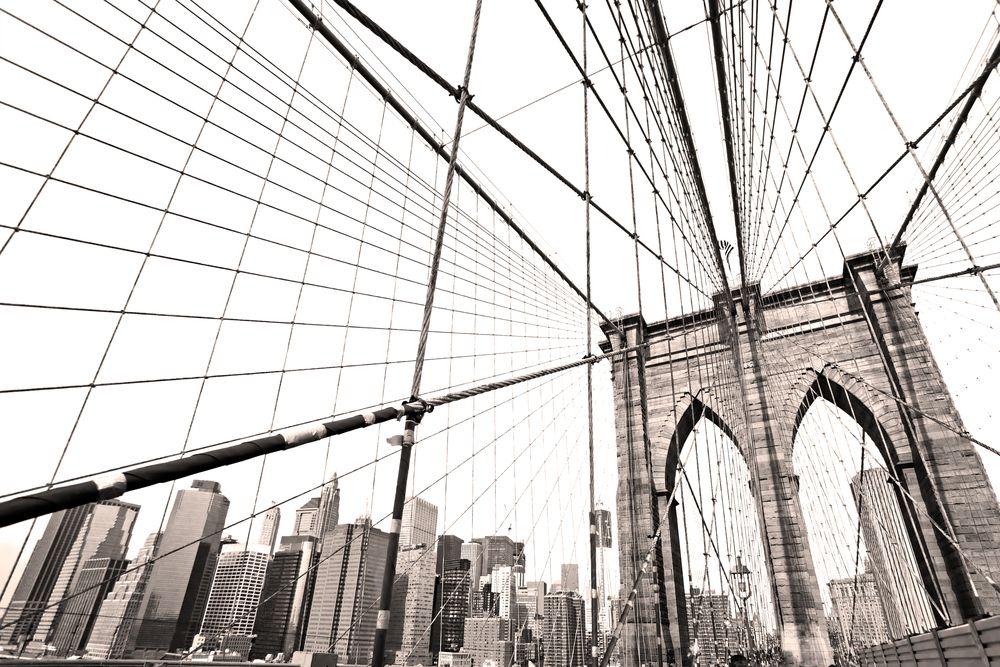 nyc 2 way to the brooklyn bridge Brooklyn bridge, Black