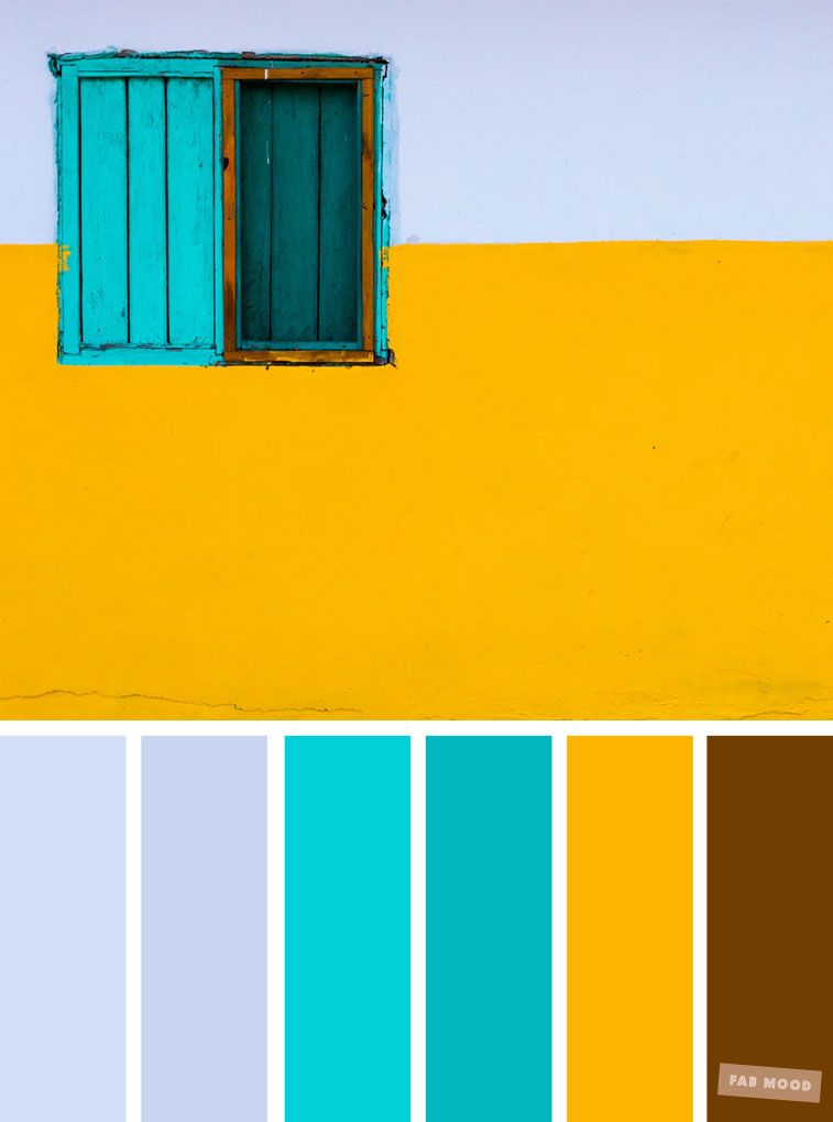 Color Inspiration Light Blue Turquoise Yellow Palette Summercolor