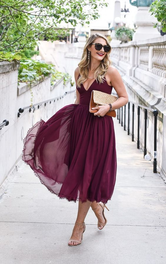 Gorgeous Fall Wedding Guest Outfits | Dresses | Fall ...