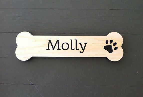 Custom Dog Bone Sign Wood Dog Bone Personalized Dog Bone Sign
