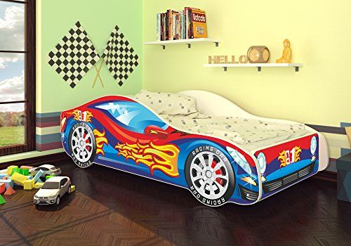 autobett kinderbett bett auto car junior in zwei farben. Black Bedroom Furniture Sets. Home Design Ideas