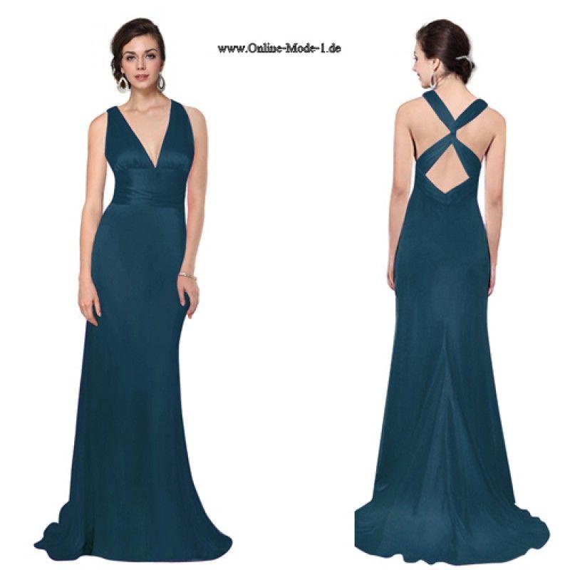 Elegantes Malachitgrünes sexy V-Ausschnitt Kleid | Hochzeit ...