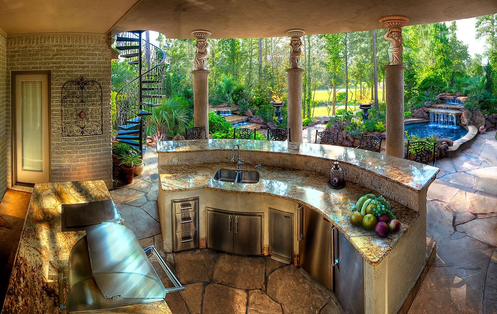 Spa And Outdoor Kitchen Design Ideas on small garden spa, backyard spa, outdoor swimming pool with spa,