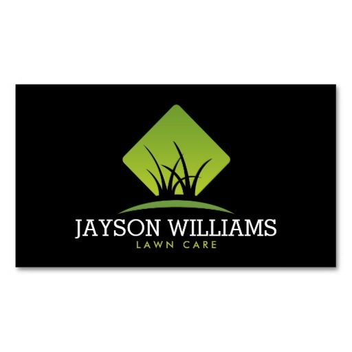 Landscape Commercial Sign: Modern Lawn Care/Landscaping Grass Logo II Business Card