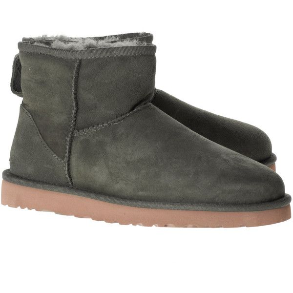 1d95c9b65ed UGG Classic Mini Leather Forest // Short shearling boots (1.260 DKK ...