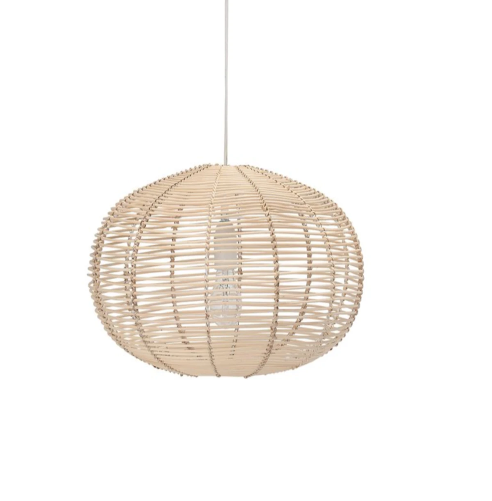 Description A Beautiful And Naturally Styled Light Fixture In A Round Circular Shape In Ra Rattan Light Fixture Retro Lighting Fixture Bedroom Light Fixtures