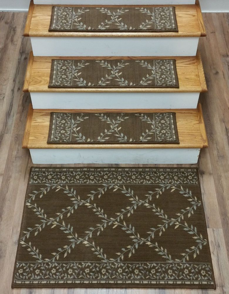 Best Rug Depot 13 Brown Trellis Stair Treads 27 X 9 With 27 400 x 300