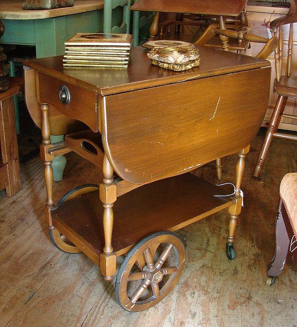 Antique Vintage Dropleaf Teacart Tea Cart Sale Sale Sale 40 Call