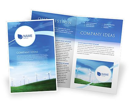 Wind Energy Brochure Template | farmer doc theme | Pinterest