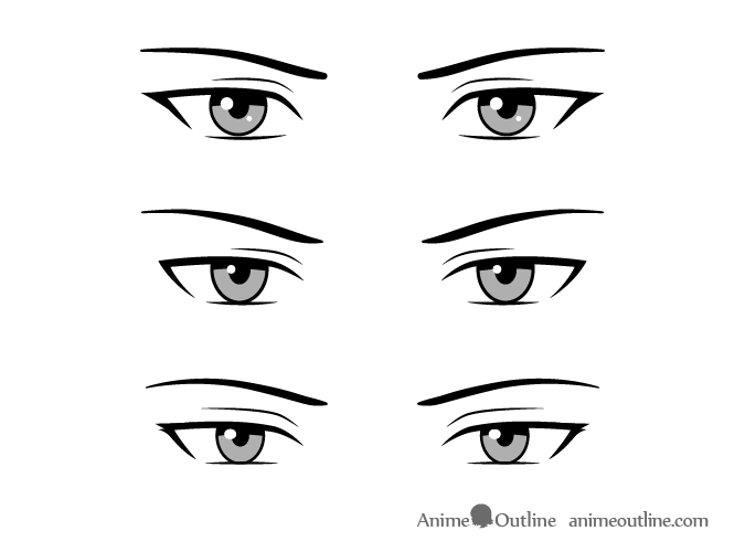 Serious Style Male Anime Eyes How To Draw Anime Eyes Manga Eyes Anime Eye Drawing