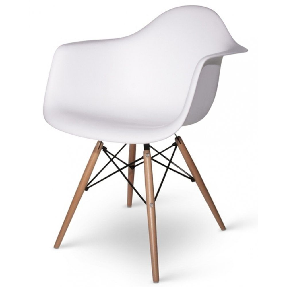 Phenomenal Charles Eames Style Cool White Plastic Retro Armchair Home Pabps2019 Chair Design Images Pabps2019Com