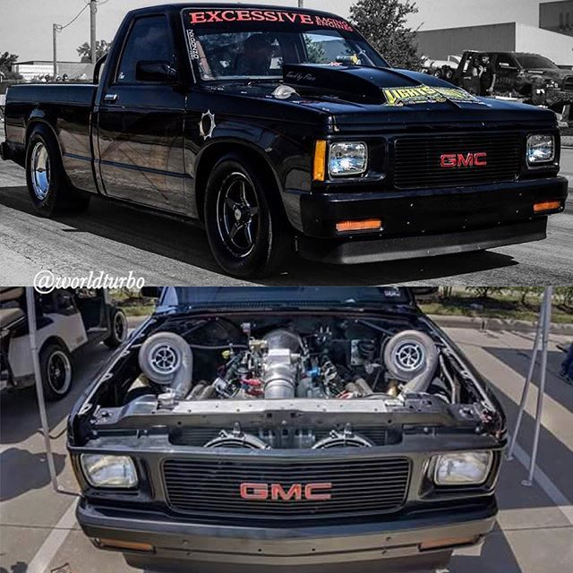 Gmc S10 Twin Turbo Chevy S10 Classic Chevy Trucks Cool Trucks