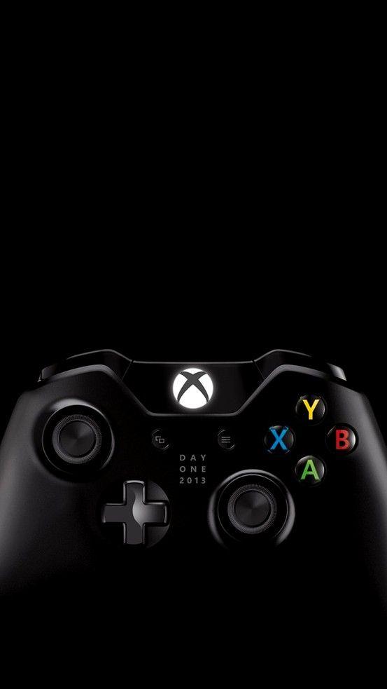 Xbox One on black Papel de parede games, Papéis de