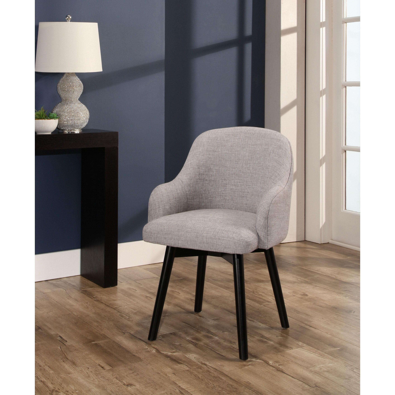 Best Abbyson Abbott Upholstered Swivel Dining Chair 640 x 480