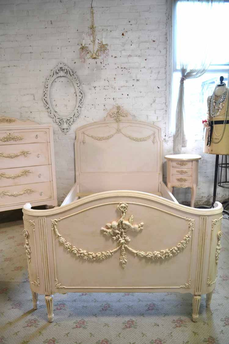 Painted Cottage Chic Shabby French Twin Vintage Romantic