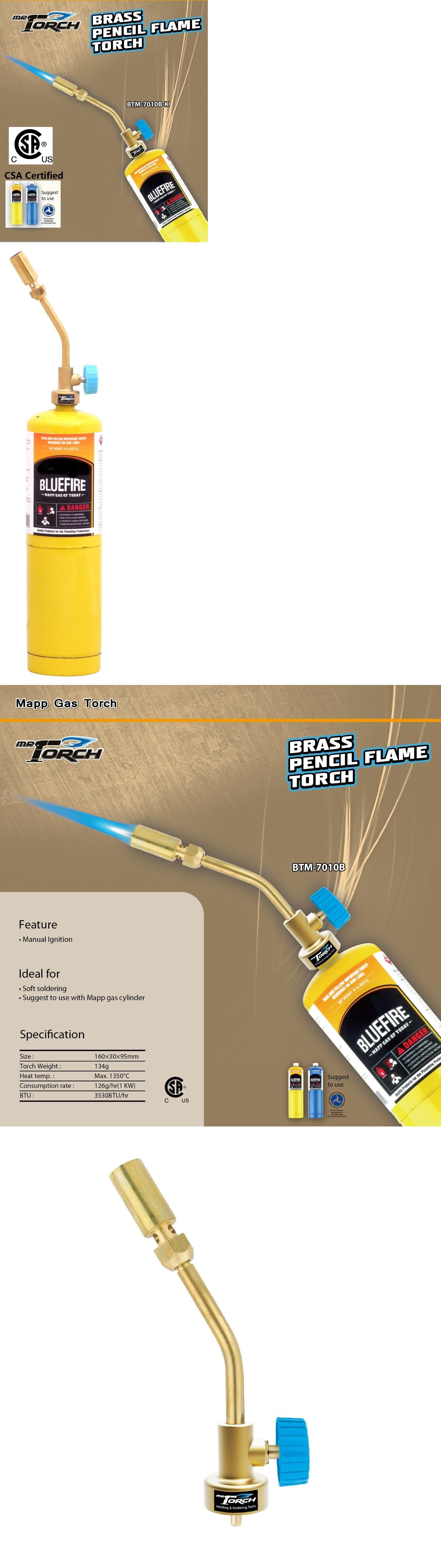 Welding And Soldering Tools 46413 Mr Torch Brass Pencil Flame Gas Welding Torch Csa Certified Mapp Map Pro Propane Buy It Welding Torch Mapp Gas Torch Map