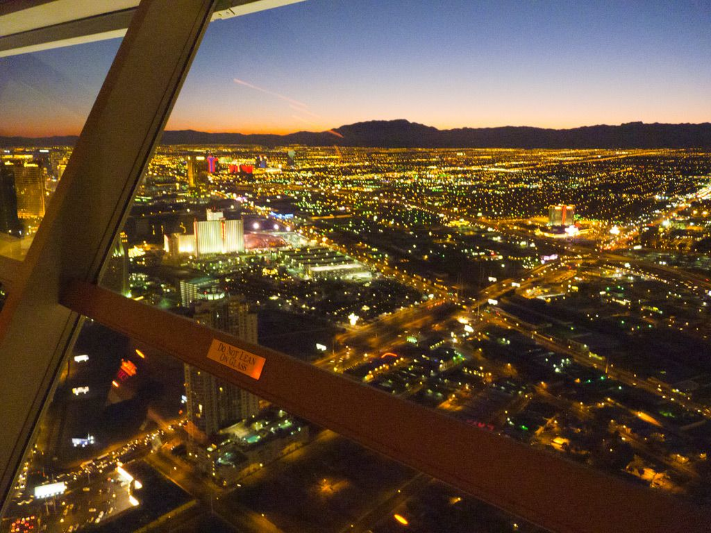 View from Stratosphere Tower, Las Vegas, NV, USA (Dec 2011)