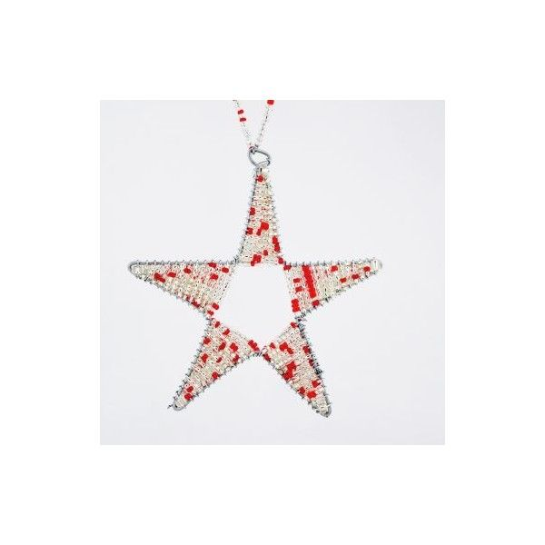 Maasai Bead Wire Christmas Star Ornament ❤ liked on Polyvore ...