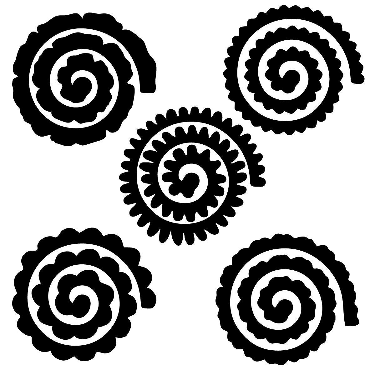 Image result for free rolled flower svg Flower svg