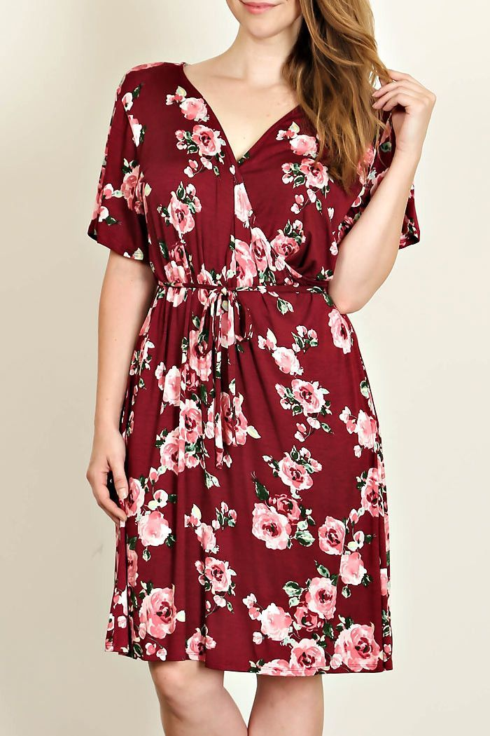 fa58ae79c8 A woven maxi dress featuring a surplice front, self-tie straps at waist,  butterfly sleeves, a knit underlayer, side slit, and a concealed back  zipper.