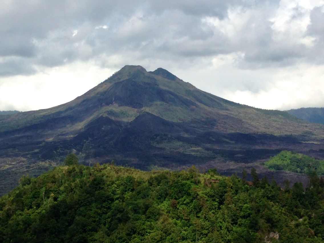 Bali indonesia penelokan view of batur volcano 12015