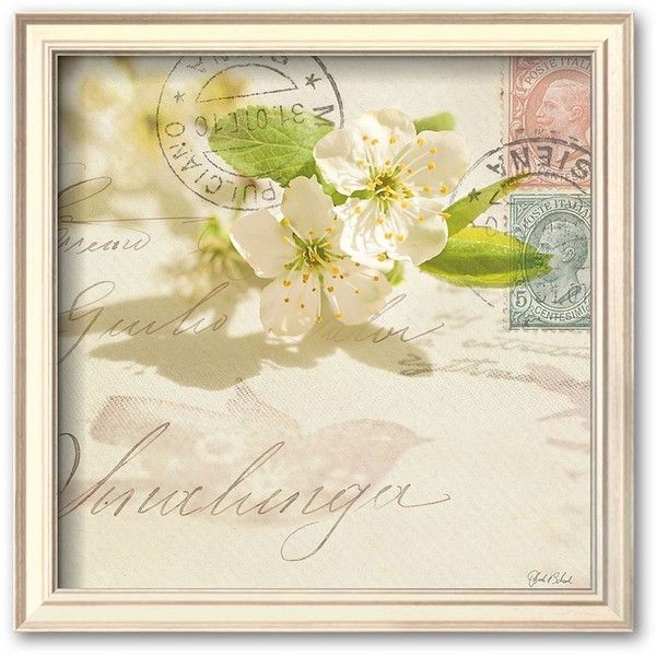Art.com Vintage Letter and Apple Blossoms Framed Art Print by ...