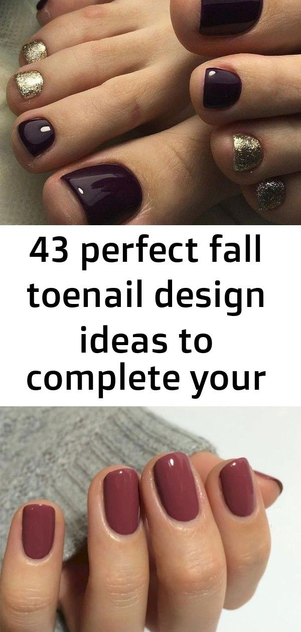 43 perfect fall toenail design ideas to complete your style 3