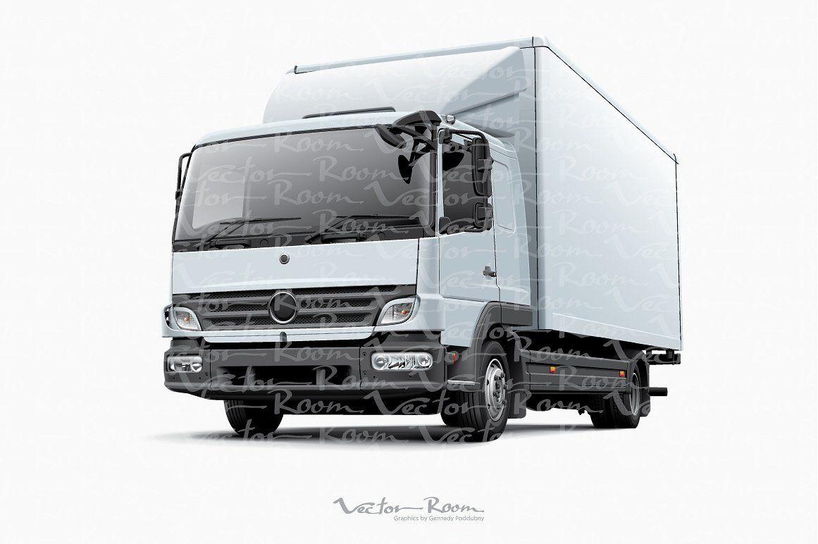 Box Truck And Delivery Goods Van Commercial Vehicle Trucks Van