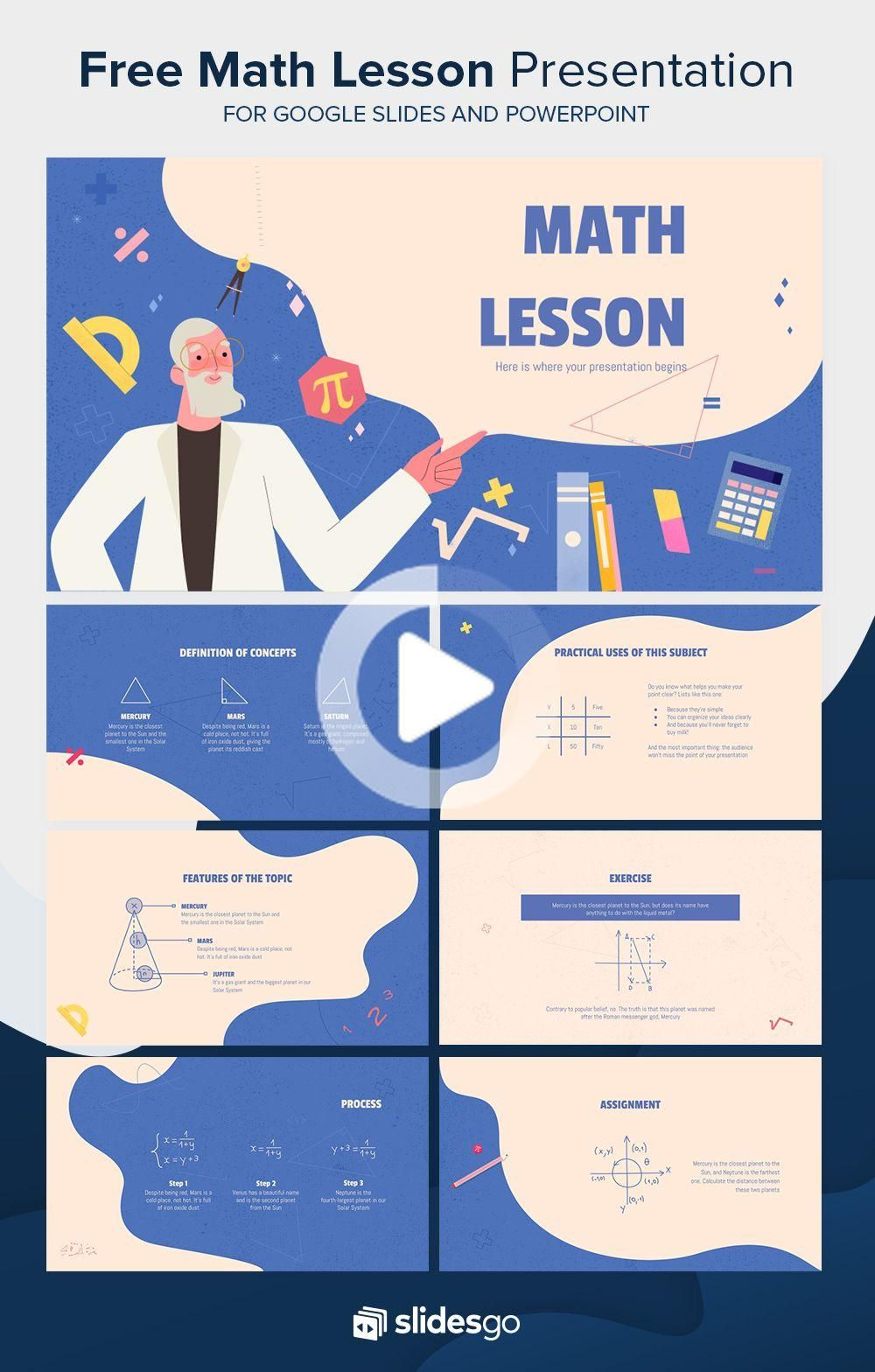 Math Lesson Presentation In 2020 Powerpoint Presentation Design Powerpoint Design Education Poster Design
