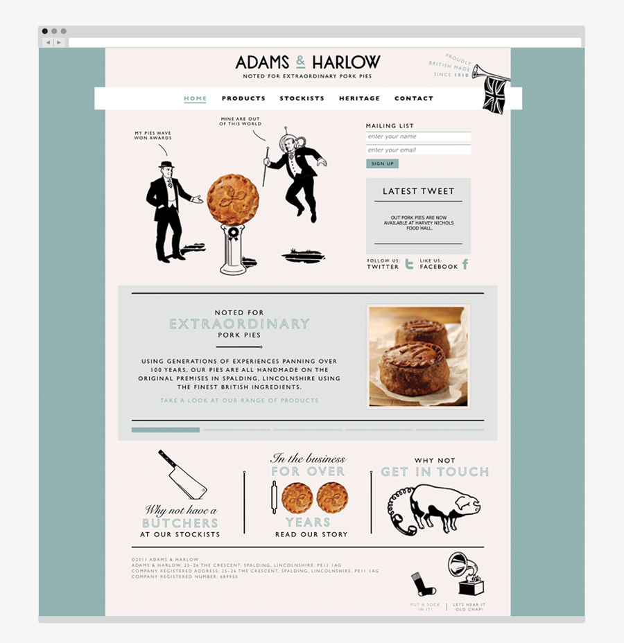 Packaging For Adams Harlow By Designers Anonymous Bp O In 2020 Web Design Resources Website Design Harlow