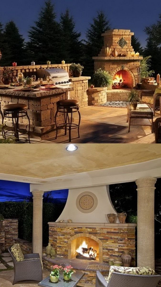 100 Amazing Outdoor Fireplace Designs @styleestate ... on Amazing Outdoor Fireplaces id=94262