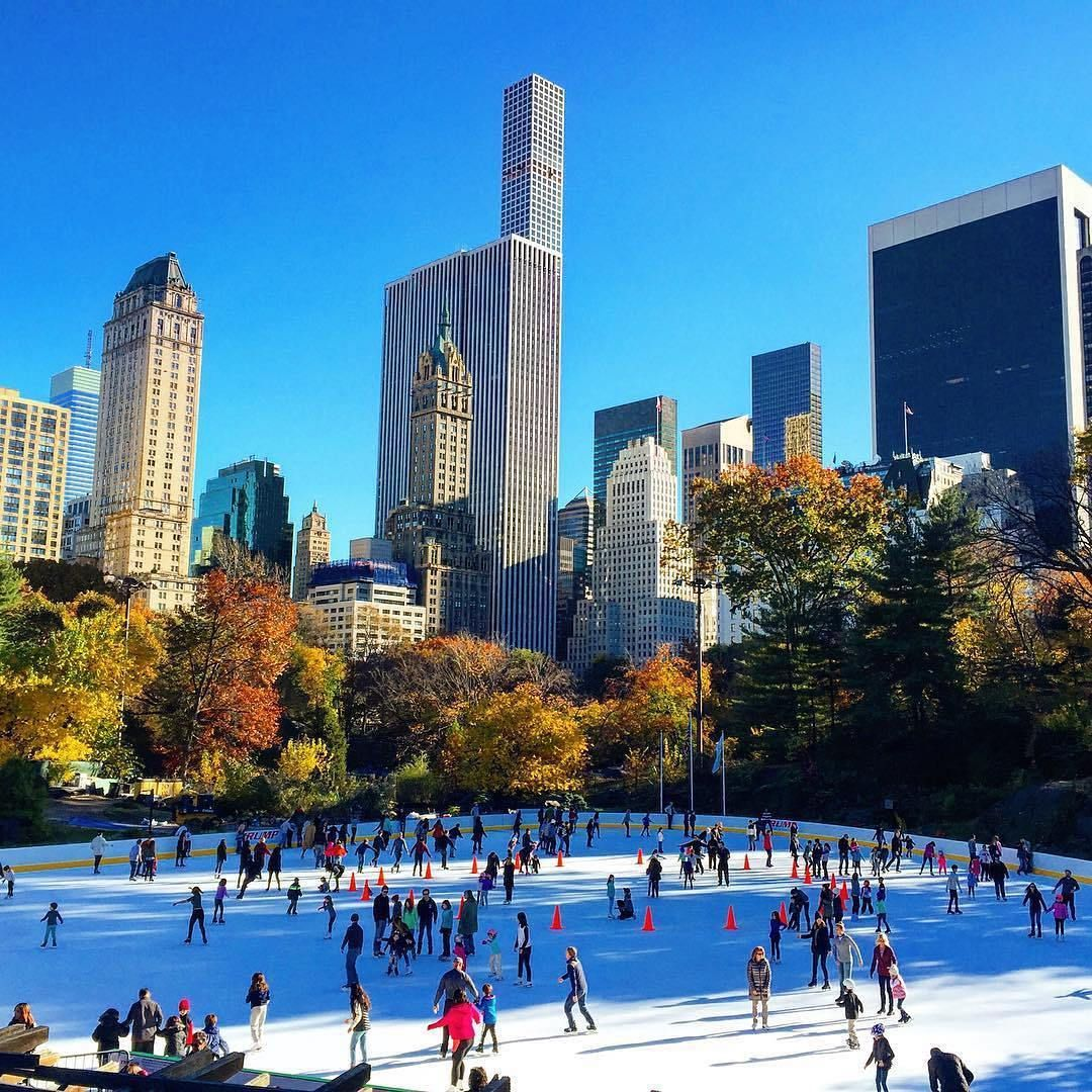 Central Park Christmas 2020 Christmas in New york Central Park Ice Skating Rink | New york