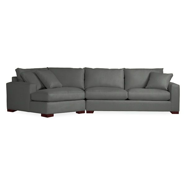 Metro Sofas With Angled Chaise Sofa ChairCouchSectional Living