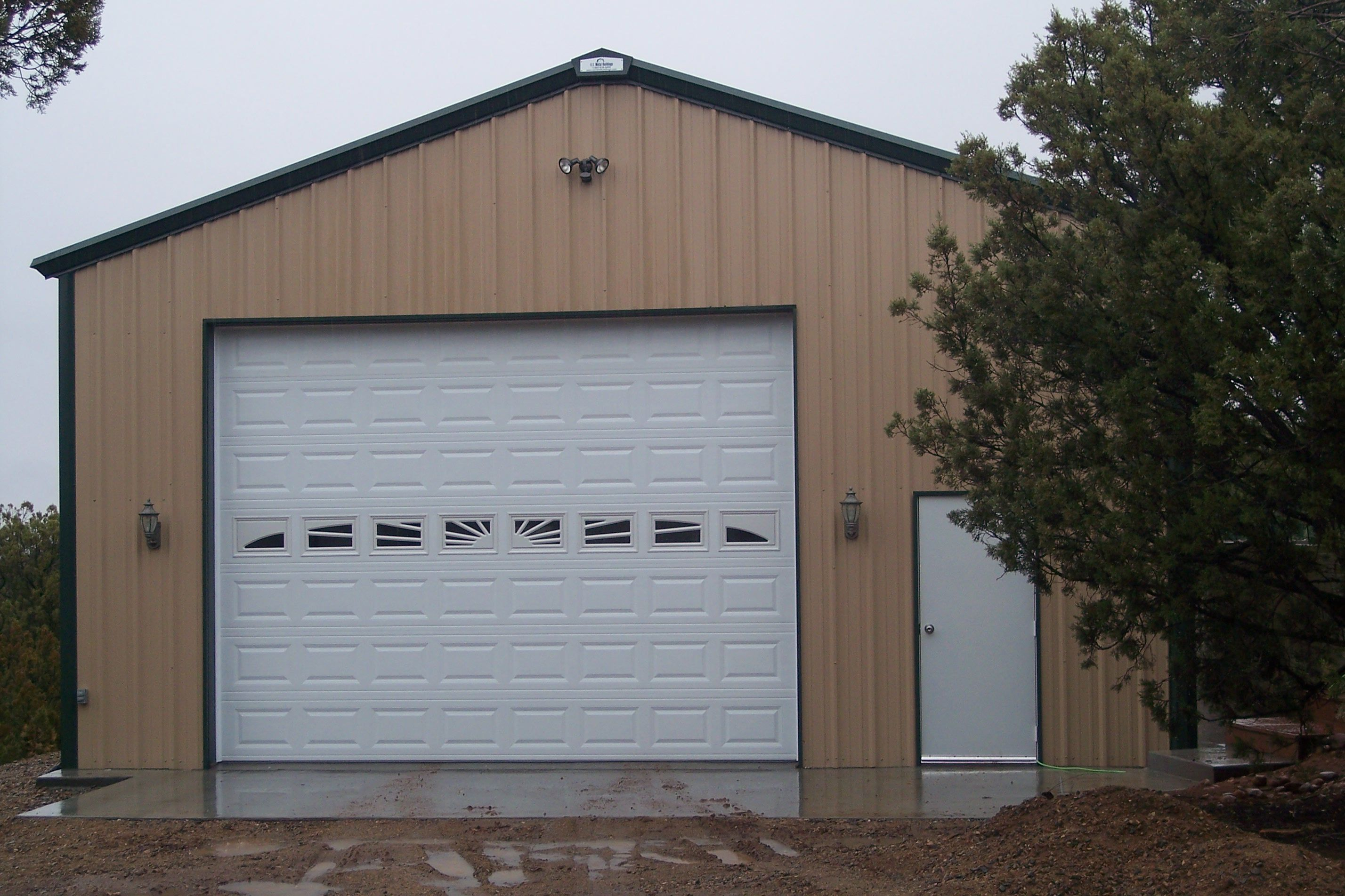 Metal garage steel building garage kit metal steel for Garage builders prices