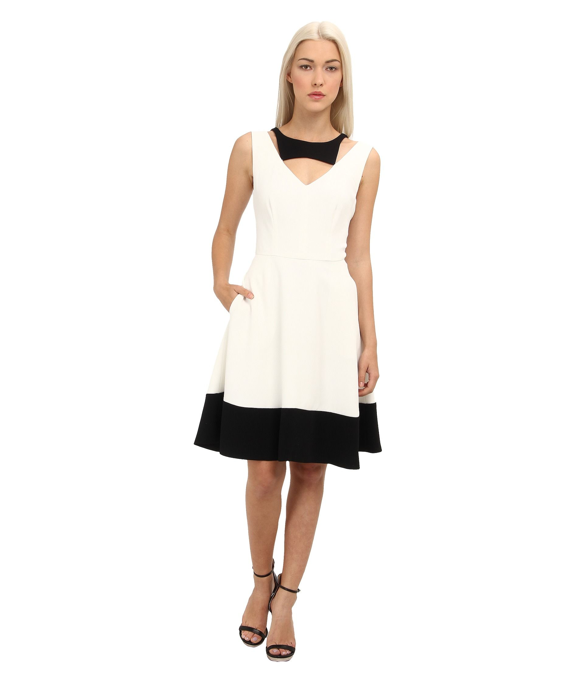 Rachel Roy Color Block Dress White/Black - Zappos.com Free Shipping BOTH Ways