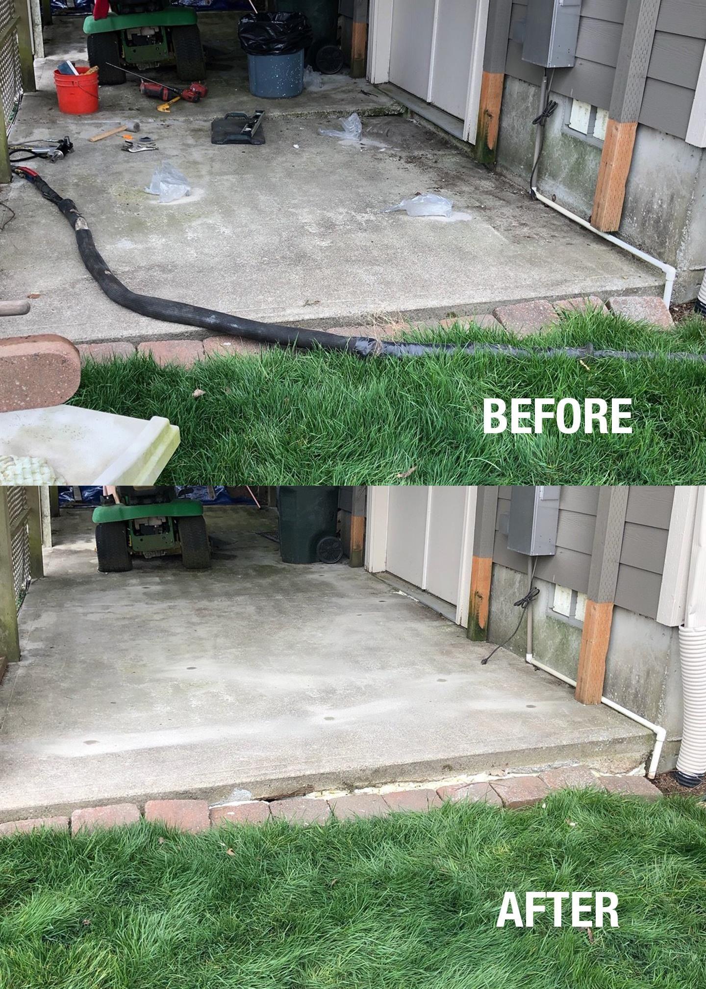Lift Your Concrete Slab Free Evaluation Ram Jack West Bohemian Interior Design Foundation Repair Before After Photo
