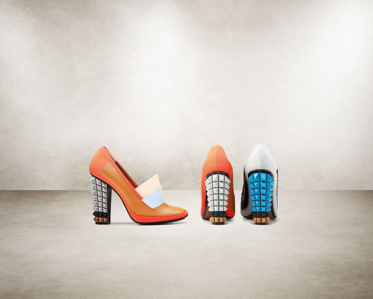 Love this edgy cool FENDI WOMAN SPRING SUMMER 2013 SHOES FASHION SHOW