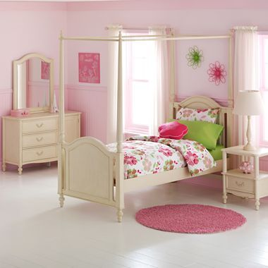 Paige 6 pc canopy bedroom set jcpenney i love not - Jcpenney childrens bedroom furniture ...