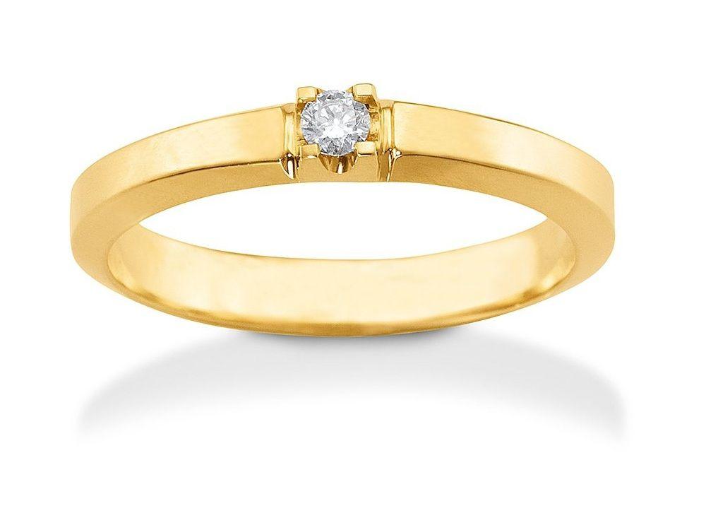 Aagaard Mary Alliance Ring i guld m. 1 brillant