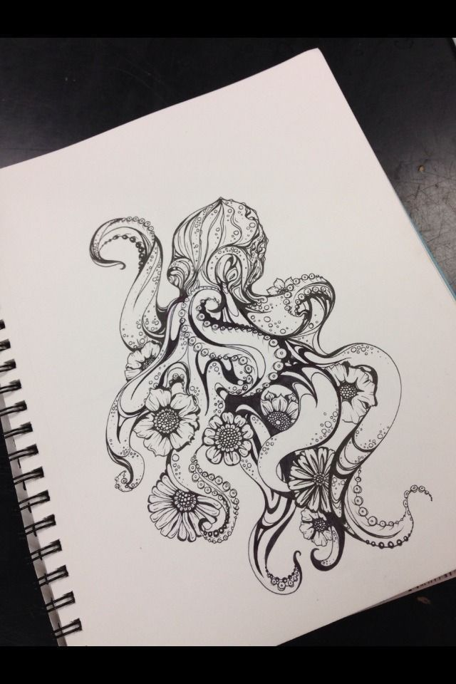 Photo of not yet starved, #floralOctopusTattoo #not #not #hunger