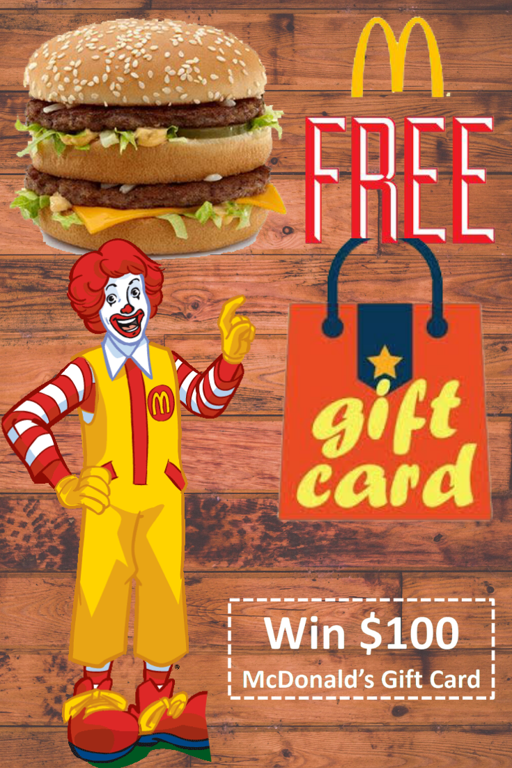 Win free mcdonalds gift card giveaway 2020 in 2020